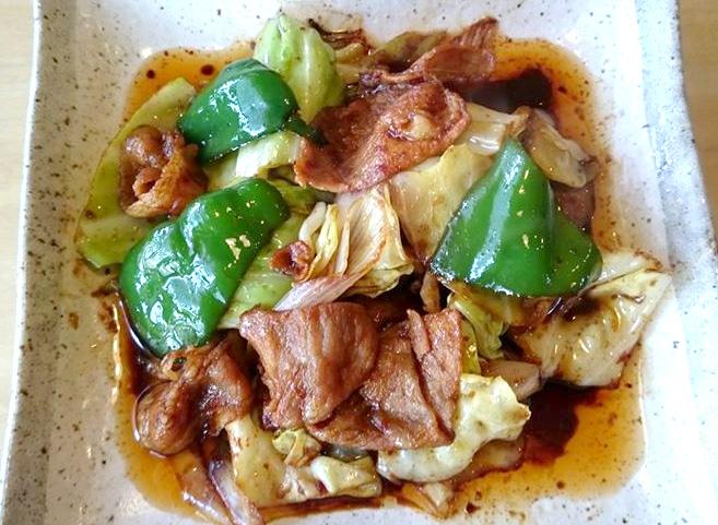新大前店 秘伝のタレで炒めた豚野菜炒め