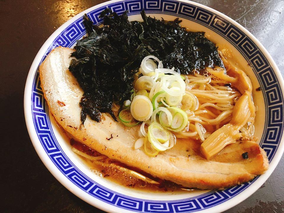 【総本店】熟成醤油ラーメン+黒バラ海苔トッピング!
